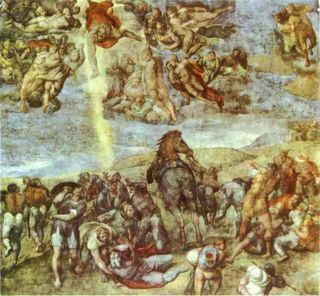 Michelangelo._Conversion_of_Saint_Paul._1542-1545._Frescoes