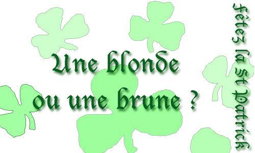 Bière blonde ou brune